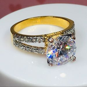 14k yellow gold ring engagement wedding 4 CT